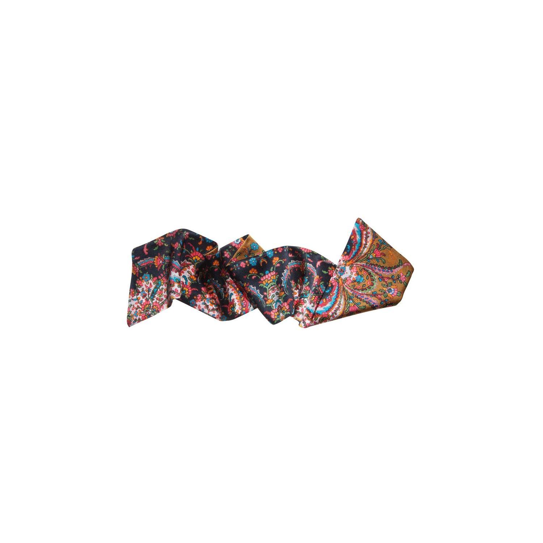 Eşarfă de păr flori negre şi roşii