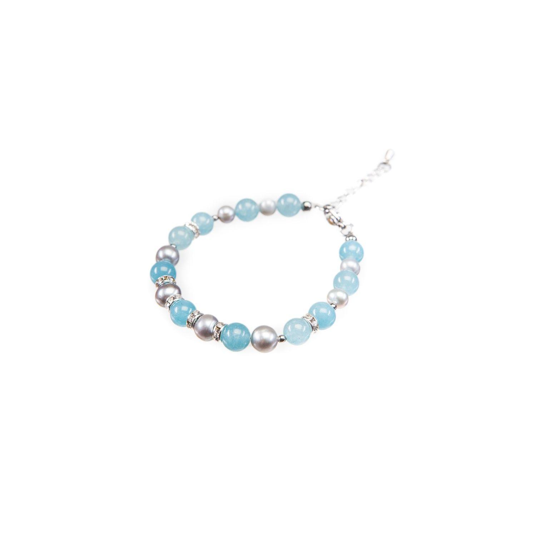 Angel Bracelet gray pearls