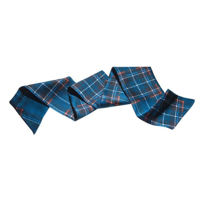 Eşarfă de păr carouri albastre