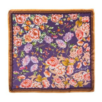 Silk Scarf Laura Biagiotti delicat flowers purple