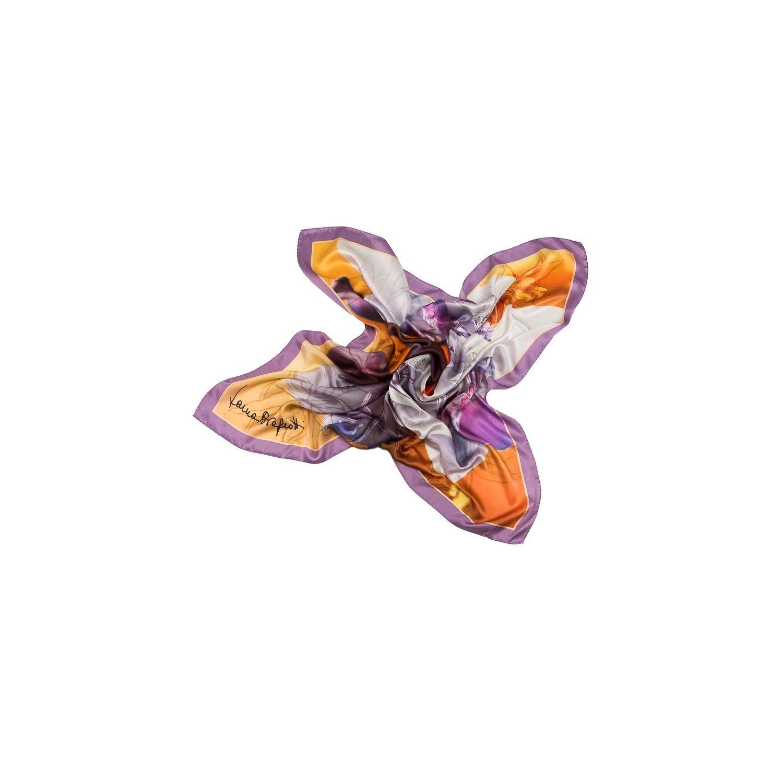 Esarfa matase naturala Laura Biagiotti orhidee lila