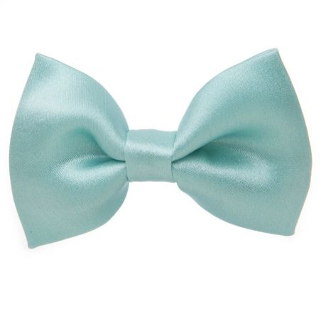Light turquoise bow clip