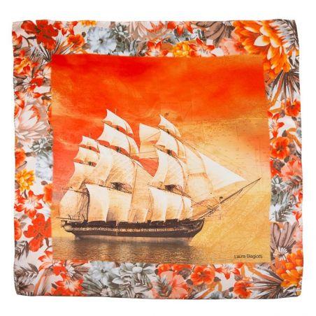 Silk Scarf Laura Baigiotti ships corai