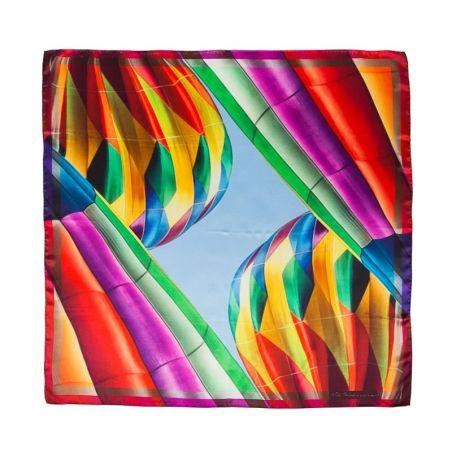 Silk Scarf Mila Schon baloons rainbow