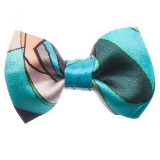 Blue Girl bow clip
