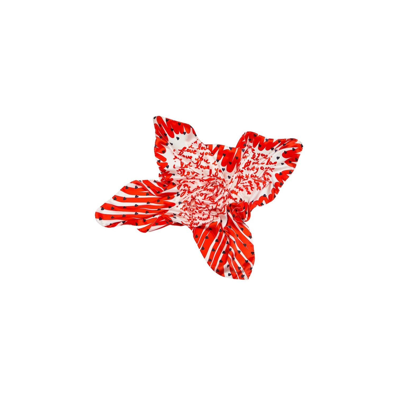 Silk Scarf  Marina D`Este I love you red