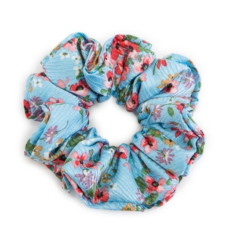 Hair Twist turcoise cu flori cires