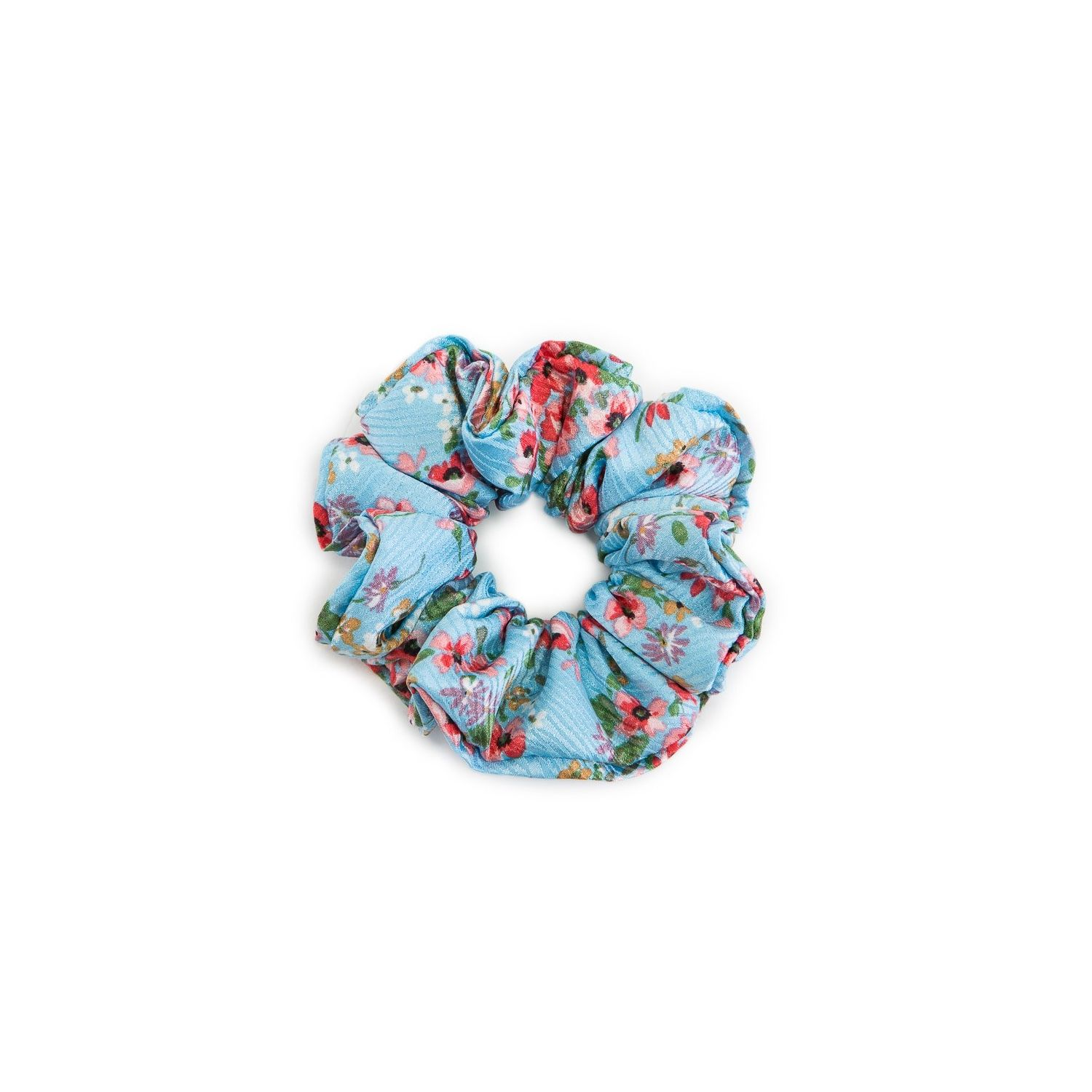 Turquoise flowered cherry hair twist