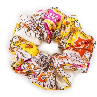 Paisley yellow orange hair twist