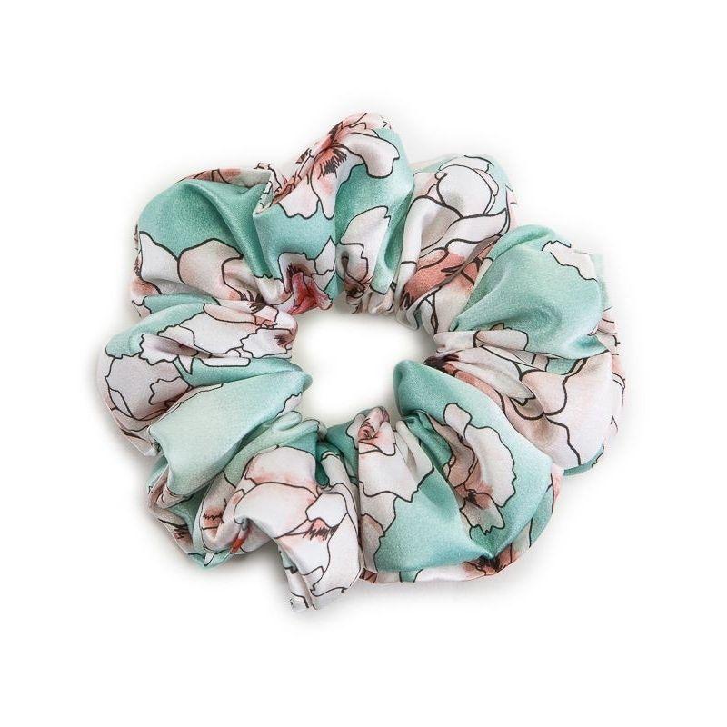 Hair Twist flori cuart pe turcoise deschis