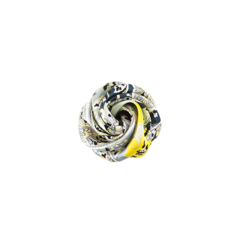 Trandafir de par paisley gri galben