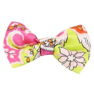 Yellow-orange paisley bow