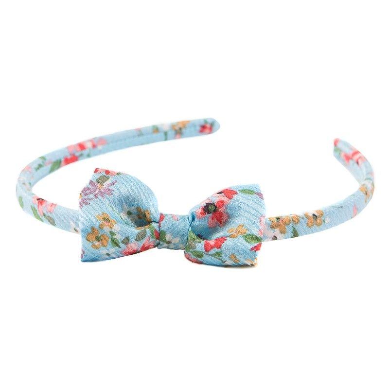 Headband cu fundita tucoaz cu floricele cires