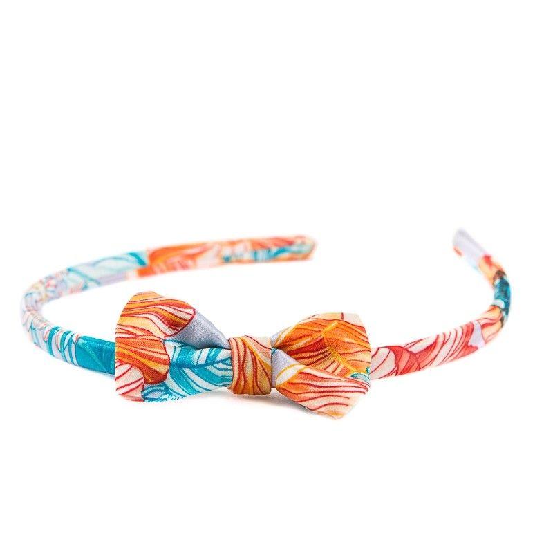 Headband cu fundita maci corai