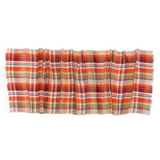 Scarf men Gaia orange plaid