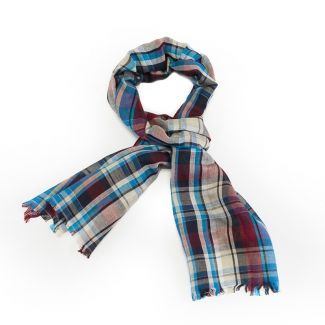 Esarfa barbati Gaia blue plaid