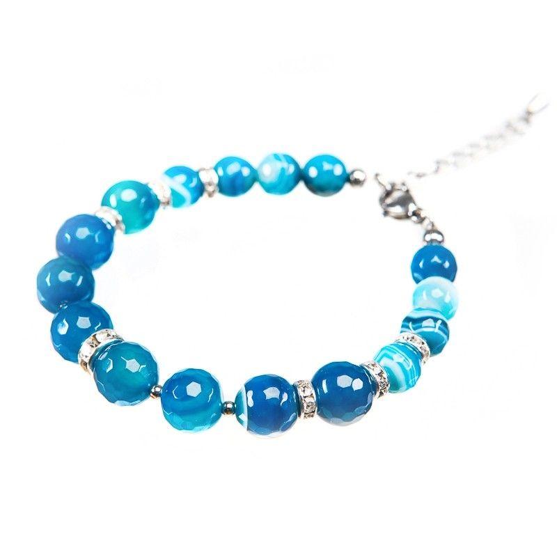 Blue lace agate bracelet