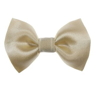 Lemon yellow bow clip