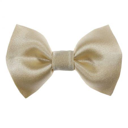 Lemon yellow bow clip
