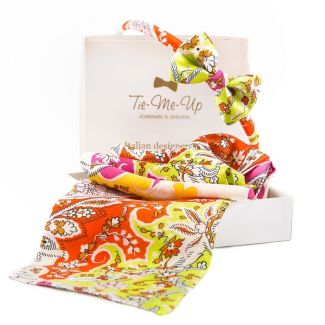 GIFT: Scarf drive and headband with bow Havana