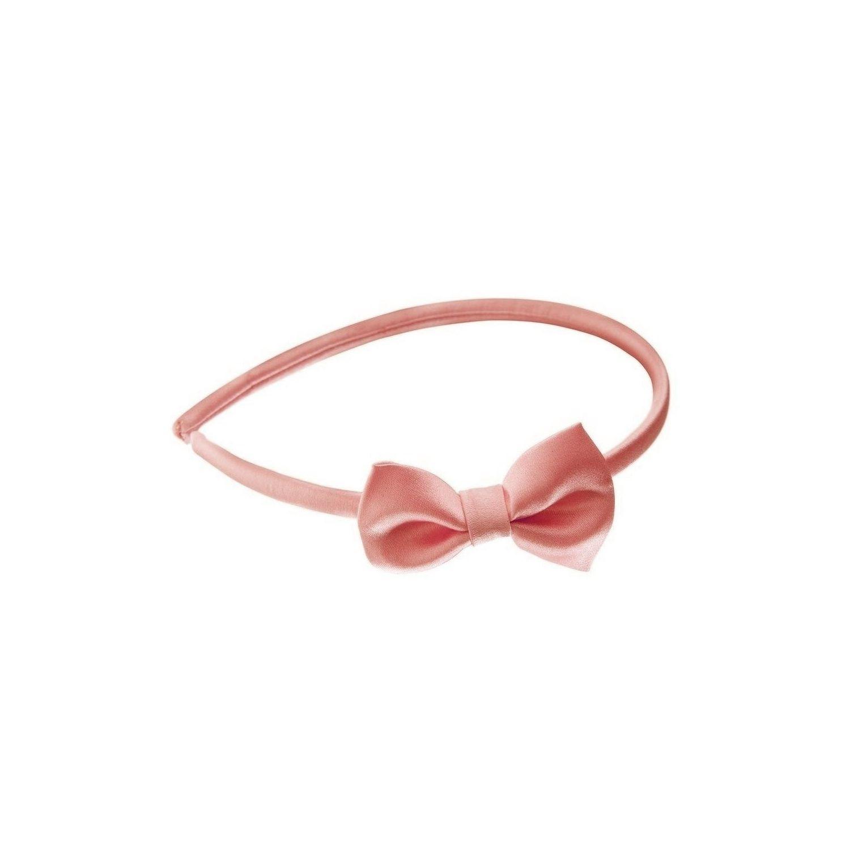 Headband cu fundiţă roz pal