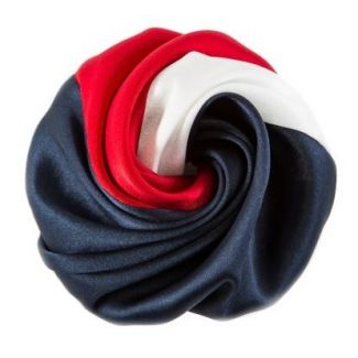 White, red , blue hair rose