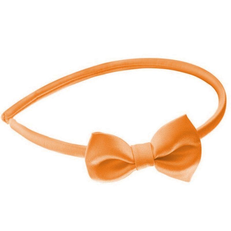 Headband cu fundiţă oranj