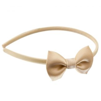 Lemon yellow bow headband