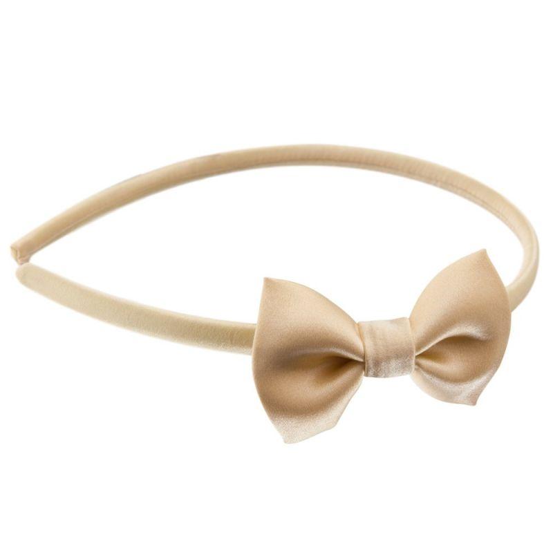 Headband cu fundiţă galben lămâie