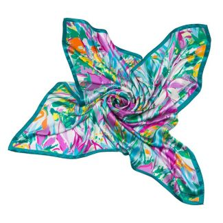 CADOU:Esarfa Mila Schon irisi turcoise cu roz si cercei argint agat turcoise