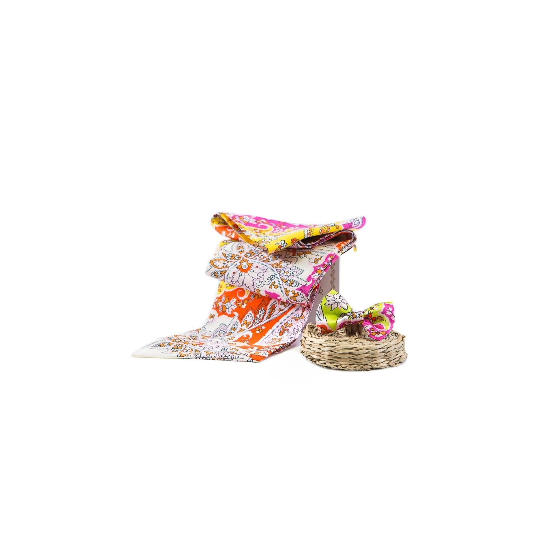 GIFT: Silk Scarf and bow Havana