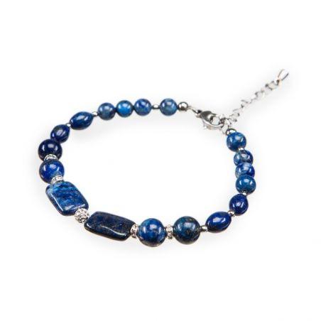 CADOU: Sal Marina D'Este arabesc blue dark si bratara lapis lazuli si rhinestone