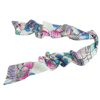 Eşarfă mătase naturală smarald flowers