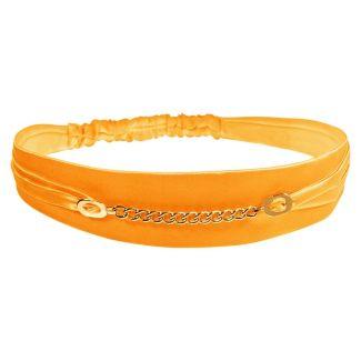 Headband cu lanţ oranj
