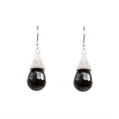 Sterling Silver Earrings  Little black