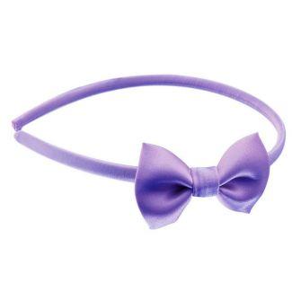 Headband cu fundiţă mov