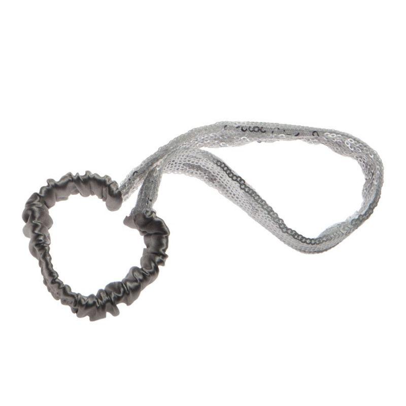 Headband argintiu metalic