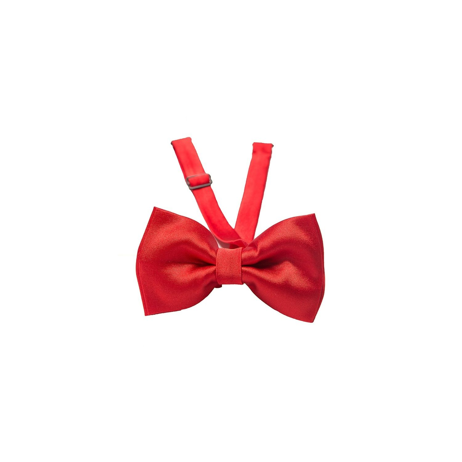 Red silk bow tie