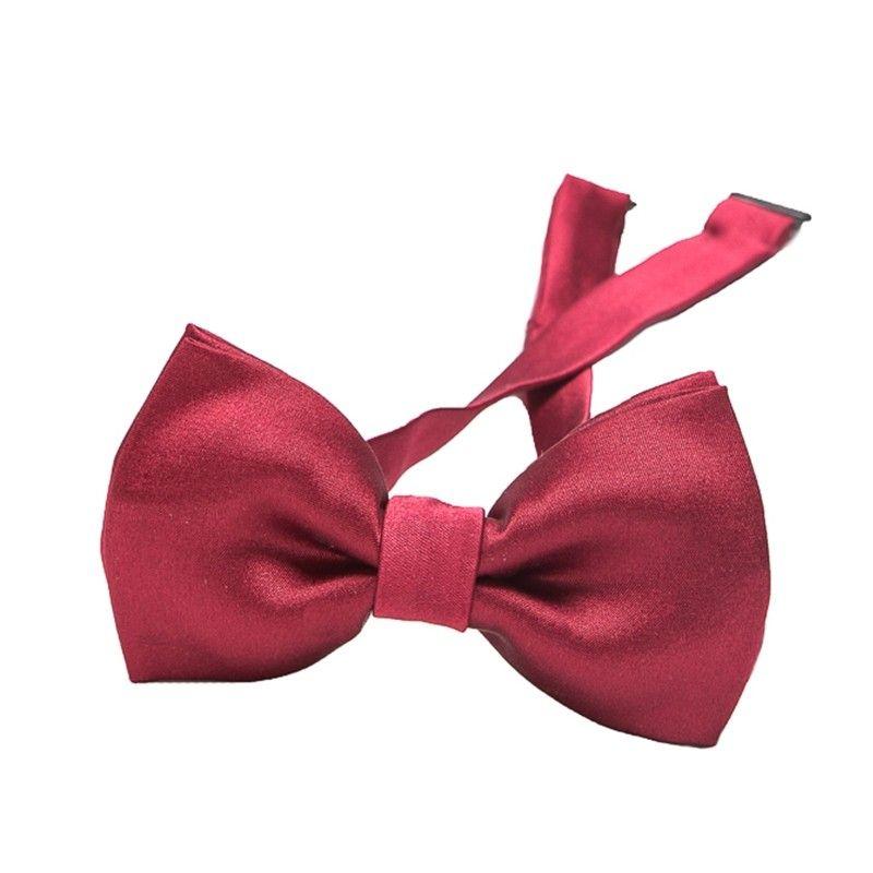 Bordo silk bow tie
