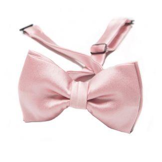 Pink silk bow tie