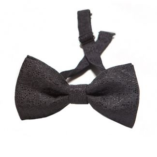 Black squares silk bow tie