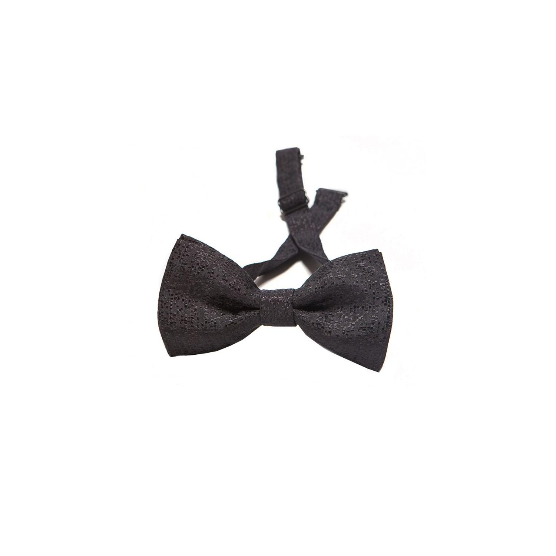 Black squares silk bow tie