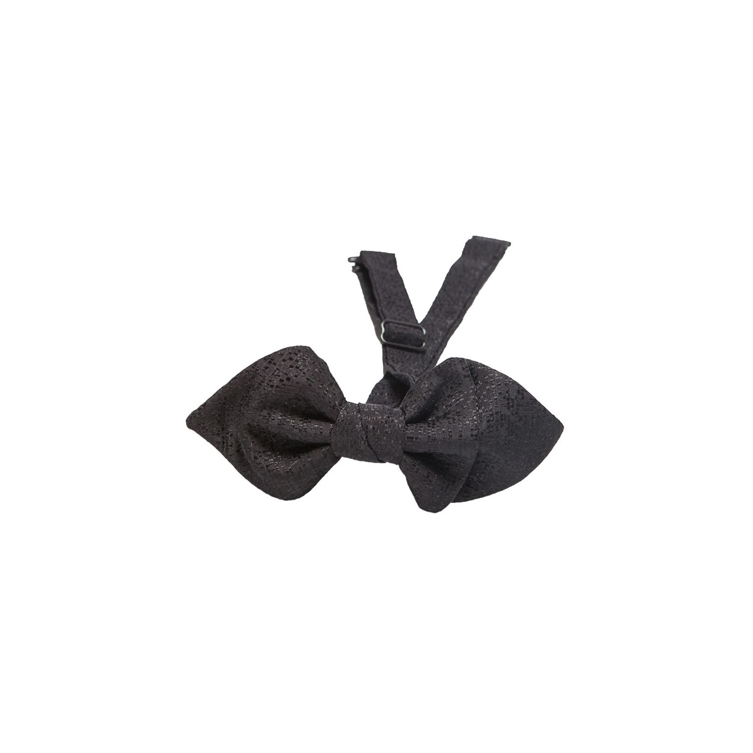 Asymmetrical Bow Tie Silk black