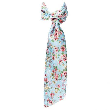 Eşarfă cu volan floricele cires