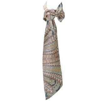 Eşarfă cu volan paisley peacock