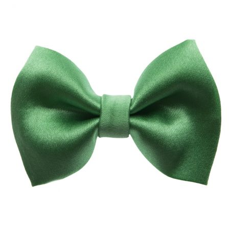 Dark Green bow clip