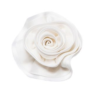 Brooch silk white