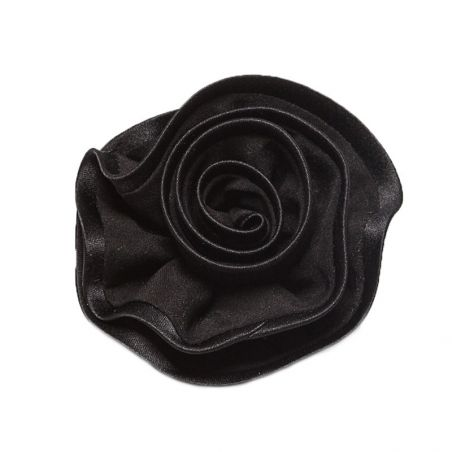 Brooch silk black