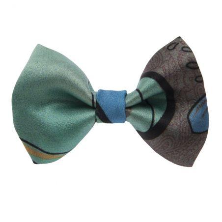 Azzurro di Capri bow clip