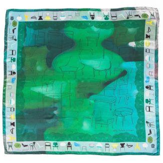 Silk Scarf Mila Schon chairs green